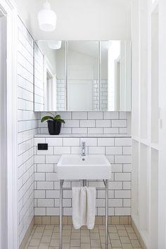 White bathroom Design Files