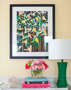 """Color Migration on Black"" art print by COZAMIA   #art, #decor, #cozamia"