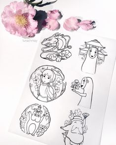 A lovely sheet of designs for all my Spirited Away lovers! Who else is in love with Hayao Miyazaki films? They're so magical I fall in love everytime I watch it. Feel free to tag a friend who might like it too! by lunachrissy