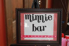 Minnie Mouse Party - Treat Table Sign