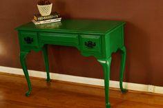 Meadow Green Antique French Desk or Vanity by CrookedGarageStudio, $275.00