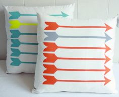 Arrow pillows from Etsy.com #piphi #pibetaphi
