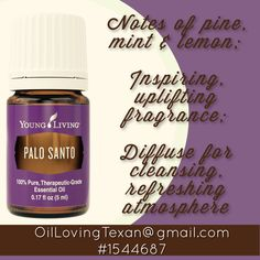 Young Living Palo Santo Essential Oil. OilLovingTexan@gmail.com #1544687 Palo Santo Essential Oil, Yl Essential Oils, Holistic Remedies, Young Living, Cleanse, Fragrance, Essentials, Personal Care, Pure Products