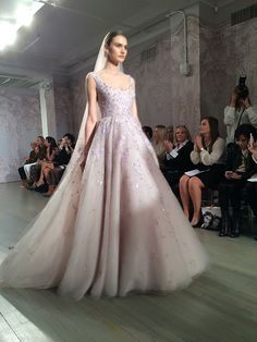 A lavender ball gown from @m_lhuillier | Brides.com