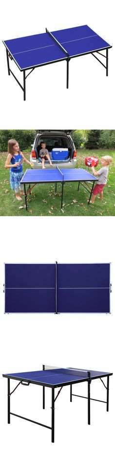 Tables 97075: Table Tennis Ping Pong Table 60 In. Portable Folding Indoor  Set Sports