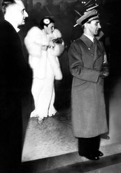 Joseph Goebbels and Lida Baarova, his mistress at the time, in the background. World History, World War Ii, Inside The Third Reich, Joseph Goebbels, Picture Collection, Change The World, How Beautiful, Mistress, Ww2