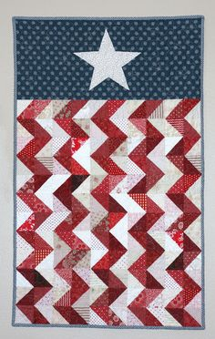 A Little Bit Biased: Feeling Patriotic - absolutely LOVE this one! wall hangings, flags, mini quilts, half square triangles, 4th of july quilts, patriotic quilts, memorial day quilts, chevron, banners