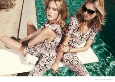 Cato Van Ee and Camille Rowe for Juicy Couture spring 2015 collection. (Photographer: Nagi Sakai)