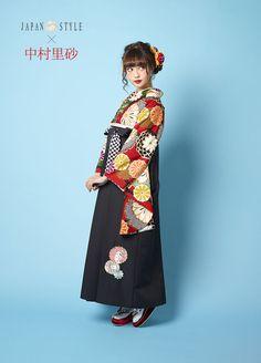 袴 JN-4 Kimono Japan, Japanese Kimono, Japanese Outfits, Yukata, Japanese Culture, Kimono Fashion, Sendai, Traditional Outfits, Peplum Dress