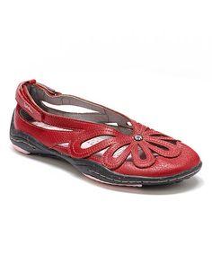 Look at this #zulilyfind! Red Blush Barefoot Leather Flat #zulilyfinds