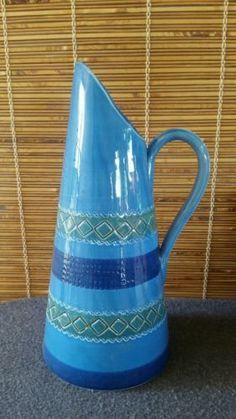 Mid Century Italy Aldo Londi Bitossi Rimini Blue Pitcher Vase Rosenthal Netter   eBay