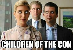 The CORRUPT Trump family. This is their legacy now. Along with other traitors like Judas & Benedict Arnold. They should've stayed in their lane. Cartoon Memes, Funny Memes, Hilarious, Jokes, Ignorant People, Enemy Of The State, Evil Empire, Political Quotes, Atheism