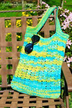 Northwest Beaches Tote Bag... Free Crochet Pattern