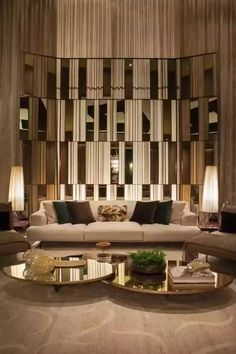Find out why modern living room design is the way to go! A living room design to make any living room decor ideas be the brightest of them all. Luxury Sofa, Luxury Living, Luxury Furniture, Lobby Furniture, Furniture Design, Modern Living, Furniture Ideas, Luxury Hotels, Furniture Companies
