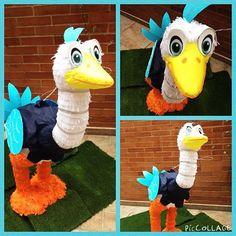 Merc el robot avestruz de Miles del Mañana #merc #milesfromtomorrowland #milesdelmañana #piñatas #fiestasinfantiles #fiestastematicas #bogota #piñapiñatas