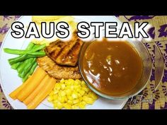 RESEP: Cara Membuat Bumbu / Saus Steak Rumahan   FYFOOD - YouTube Healthy Vegetable Recipes, Healthy Meals For One, Healthy Vegetables, Healthy Dessert Recipes, Healthy Chicken Recipes, Bbq Steak, Chicken Steak, Beef Dishes, Food Dishes