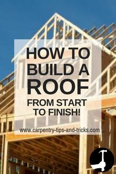 How to build a roof from start to finish. roof carpentry: lean-to's gables hips rafters barges fascias and soffits. Carpentry techniques used to build a pitched roof on a house shed or other structure. Treatment Projects Care Design home decor Woodworking Guide, Woodworking Skills, Custom Woodworking, Woodworking Machinery, Fine Woodworking, Carpentry Projects, Woodworking Projects Plans, Wood Projects, Finish Carpentry