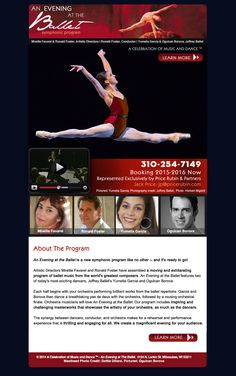sample custom email marketing design Joffrey Ballet, Email Marketing Design, Conductors, The Fosters, Templates, Learning, Stencils, Studying, Template