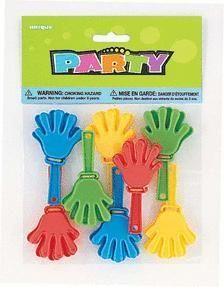 Party Noisemakers - 3'' Hand Clappers (8ct)