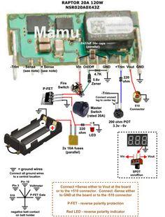 series battery mosfet wiring diagram box mod schematy diy raptor 120 watt 20a guide