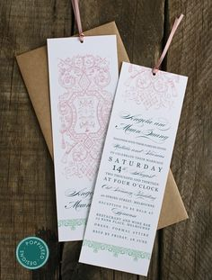 DIY printable Bookmark save the date Library book by yesdearstudio ...