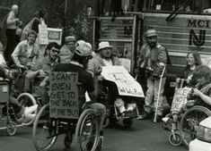 "This photo from the Civil Rights era offers a harsh reality of those times. One of the activist's posters says, ""I can't even get to the back of the bus."" This relates to our discussions on universal design, as most buses today offer wheelchair lifts. It is hard to imagine otherwise."