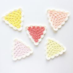 Granny triangles - Starburst edition  by knitpurlhook