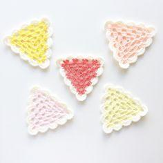 Granny triangles - Starburst edition  by knitpurlhook