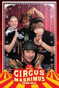 @foodessentials in the photo booth at Circus Mashimus Lounge