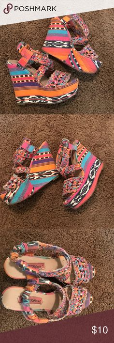 Betsey Johnson Wedges Multicolored Betsey Johnson Wedges Betsey Johnson Shoes Wedges