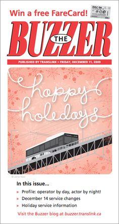 December 2009 Buzzer cover Holiday Service, Buzzer, December, Cover, Blog, Blogging, Blankets