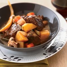 Short Rib Stew - Chef Ethan Stowell uses short ribs, a marbled cut that turns fabulously succulent and tender when slow-simmered. http://www.foodandwine.com/recipes/short-rib-stew