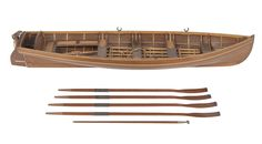 Service vessel; Passenger vessel; Gig; Captain's gig -  Scale: 1:16. A superbly made model made of a captain's gig (circa 1900) by John Hoskin, a shipwright at HM Dockyard, Plymouth