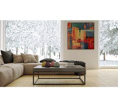 Temahome - Petra Sofabord - Grå betonlook 120x75 - Elegant sofabord i råt beton-look