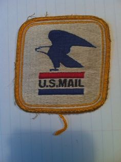 Post Office US Mail  USA patch sew on anything 3 inches by 3 inches by stockintrade on Etsy