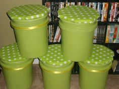 5 gallon buckets....use as additional seating and extra storage....would be great for the kids' rooms and/or a classroom