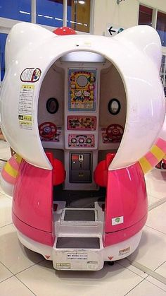 Hello Kitty キティちゃん ~ could this be a kiddy ride? Like the ones that used to be on the sidewalk in front of K-mart etc?