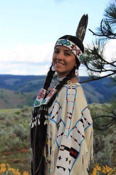 Mary Harris   Pendleton Oregon   Nez Perce Cayuse Umatilla Karuk tribes   Buckskin dress replica of our family's 1900s dress   photo by Deborah Harris