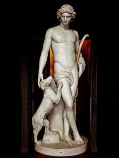 Pastoral Apollo. 1825.John Flaxman. British 1755-1826. marble. Petworth House. UK.http://hadrian6.tumblr.com