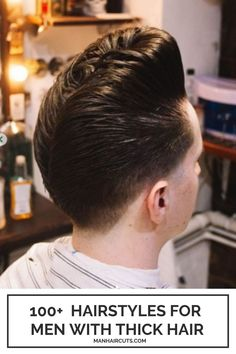 If you love old-school hairstyles, then this haircut will totally suit your tastes! This long trim Pompadour has an interesting design with the famous D.A. design at the nape that will allow your thick hair to be admired. #thickhair #menthickhair #menhairstyles #menpompadour #pompadour #manhaircuts Old School Hairstyles, Top Hairstyles For Men, Popular Mens Hairstyles, Haircuts For Men, Mens Hairstyles Pompadour, Faux Hawk Hairstyles, Undercut Hairstyles, Boy Hairstyles, Two Block Haircut