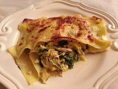 Deliciosa paparoca: Lasanha de frango e espinafres