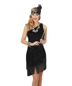 Look what I found on #zulily! Black Sassy Flapper Costume Set - Women #zulilyfinds