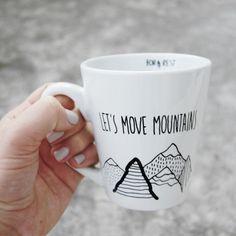 let's move mountains  motivation mug by FORRESTdesign on Etsy