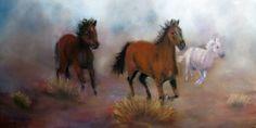 """""""Run Wild, Run Free"""" original painting."""