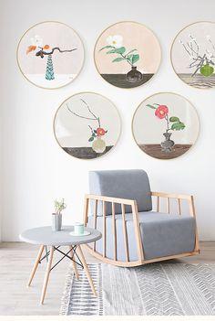 墙蛙新中式客厅沙发背景墙装饰画清新简约餐厅壁画中国风艺术挂画-tmall.com天猫