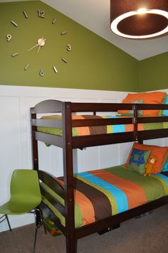 colorful boys bedroom, orange is becoming a serious thought!