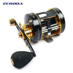 Ecooda ETC-40/50 Super Drum Left Hand /Right Hand 5.3:1 Snakehead Reel Trolling Fishing Reel  #fishingtrends