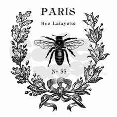 Paris Bee Pillow Case on CafePress.com - graphic fairy