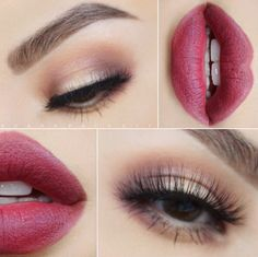 love this soft smokey eye paired with a deep berry lip! ~  we ❤ this! moncheribridals.com