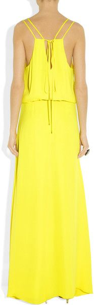 Mason By Michelle Mason Washed Silk Georgette Gown in Yellow - Lyst